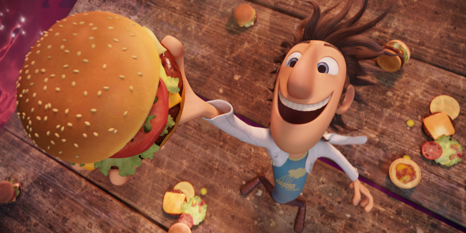 """""""Flint Lockwood"""" voiced by Bill Hader in Columbia Pictures' animated film CLOUDY WITH A CHANCE OF MEATBALLS."""