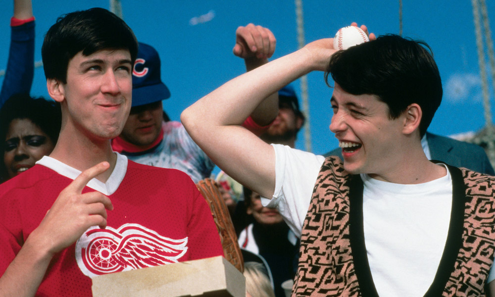 Alan Ruck and Matthew Broderick in John Hughes's Ferris Bueller's Day Off (1986)