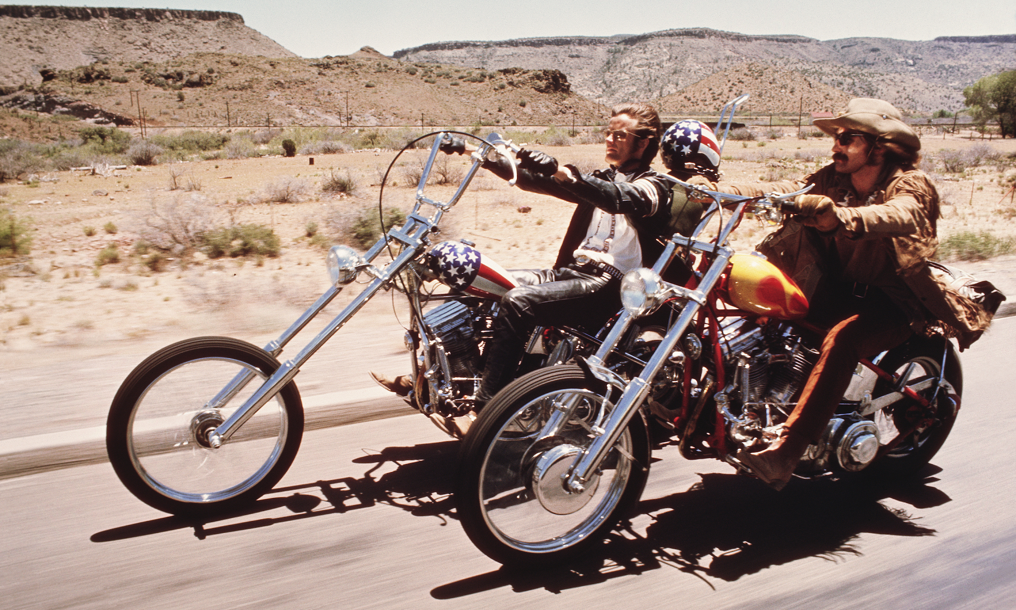 Peter Fonda and Denis Hopper in Easy Rider, a 420-friendly flick on Hollywood Suite