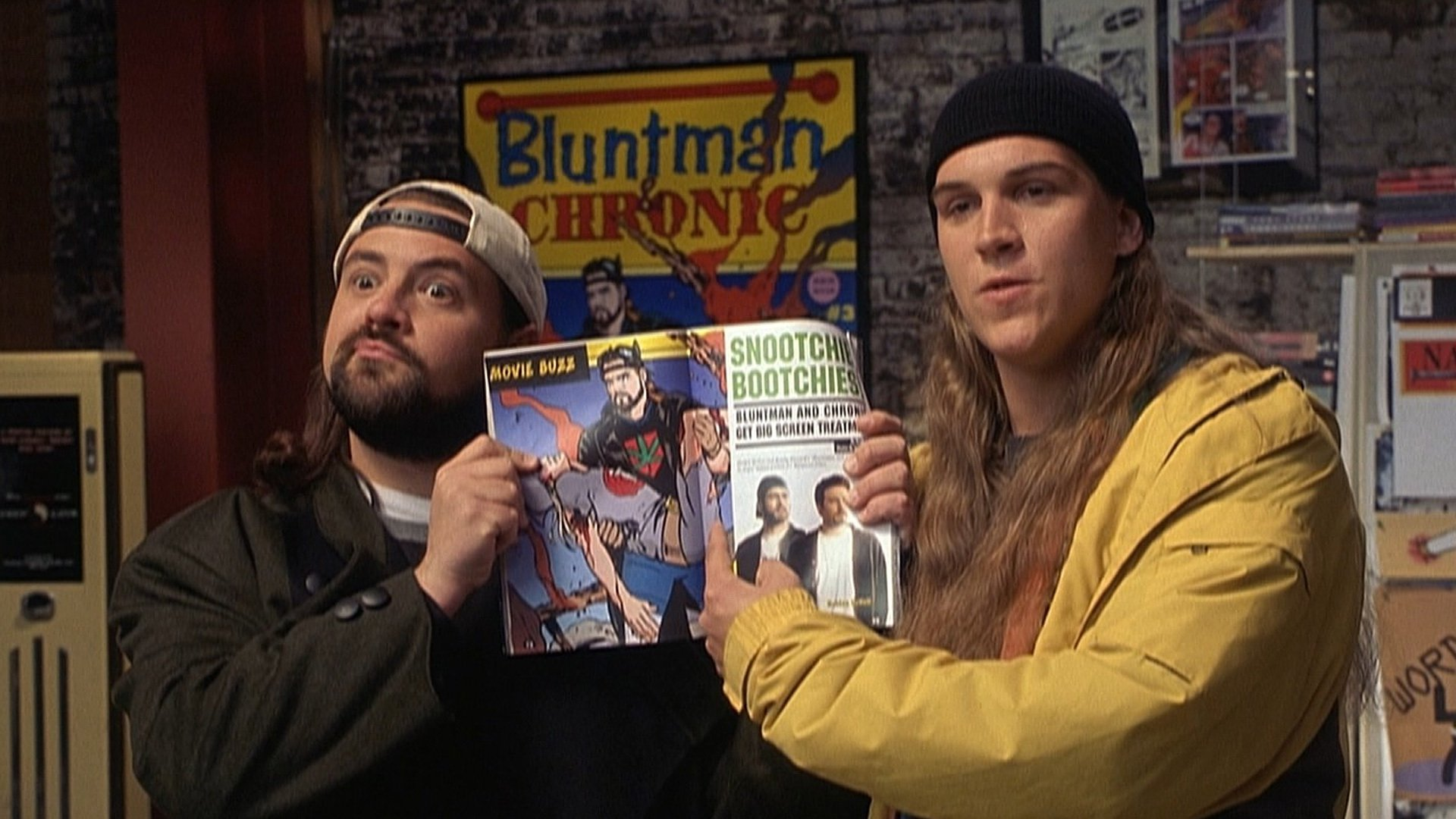 Kevin Smith and Jason Mewes in Jay and Silent Bob Strike Back, a 420-friendly flick on Hollywood Suite