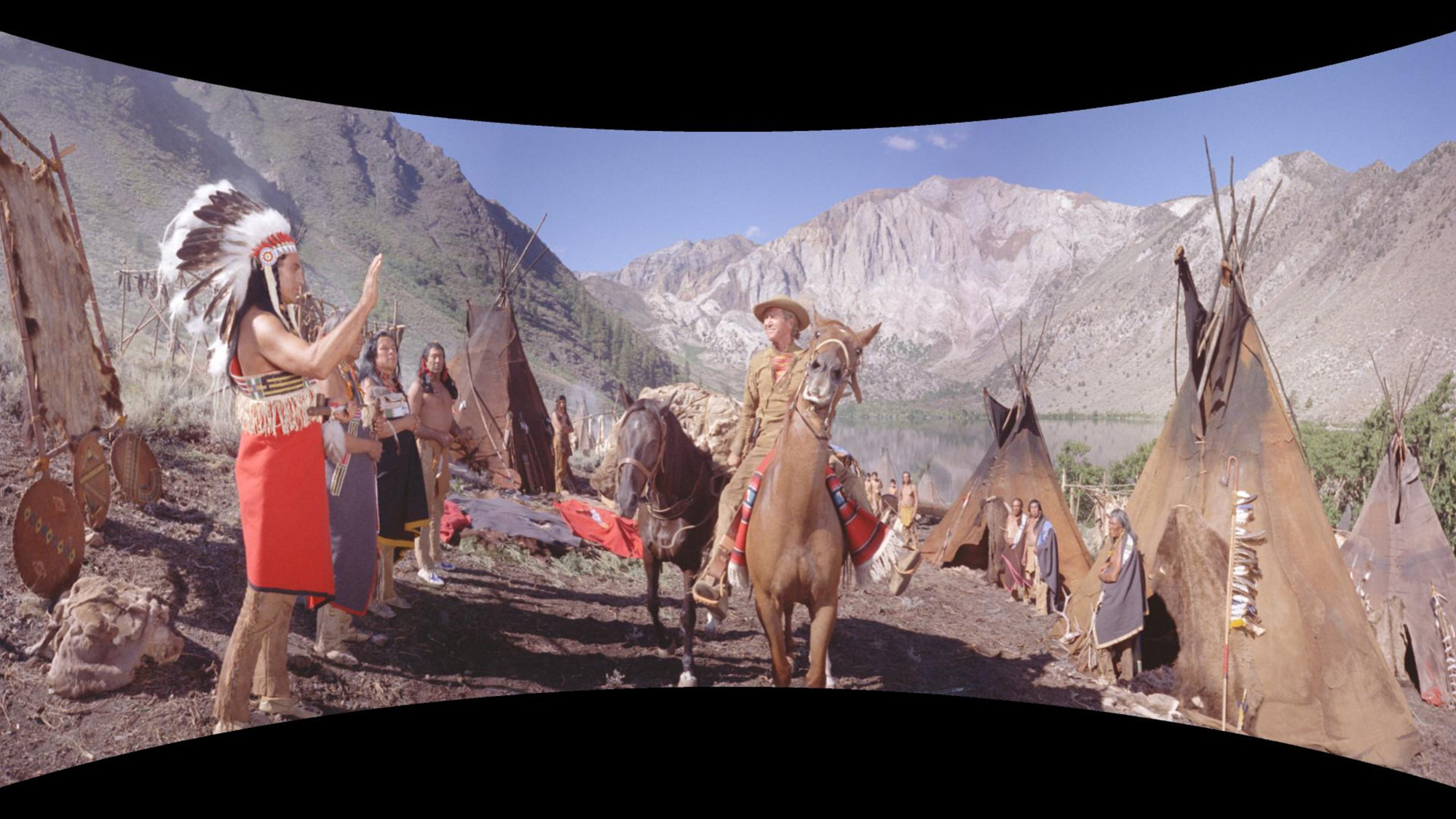 An example of the epic landscape shots of How the West Was Won in the curved Cinerama format
