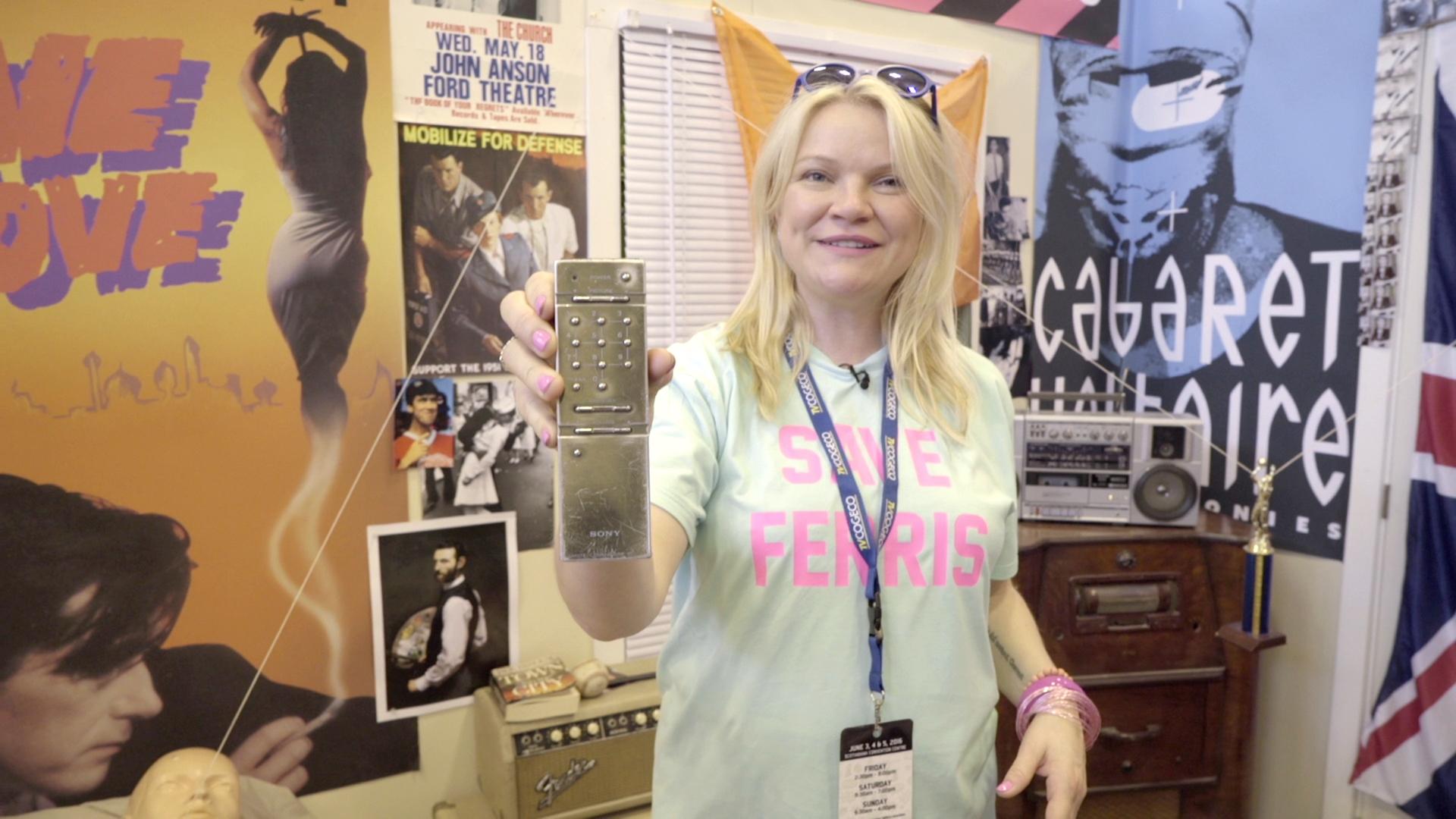 Artist Sarah Keenlyside in Ferris's Room on Hollywood Suite
