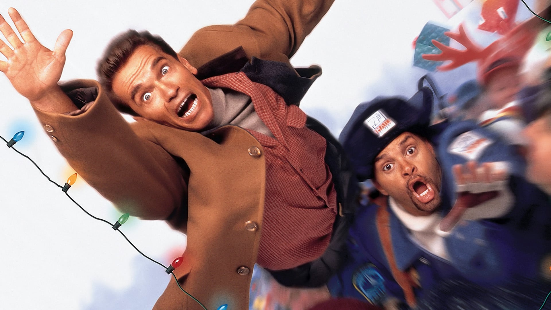 Arnold Schwarzenegger and Sinbad in Jingle All the Way