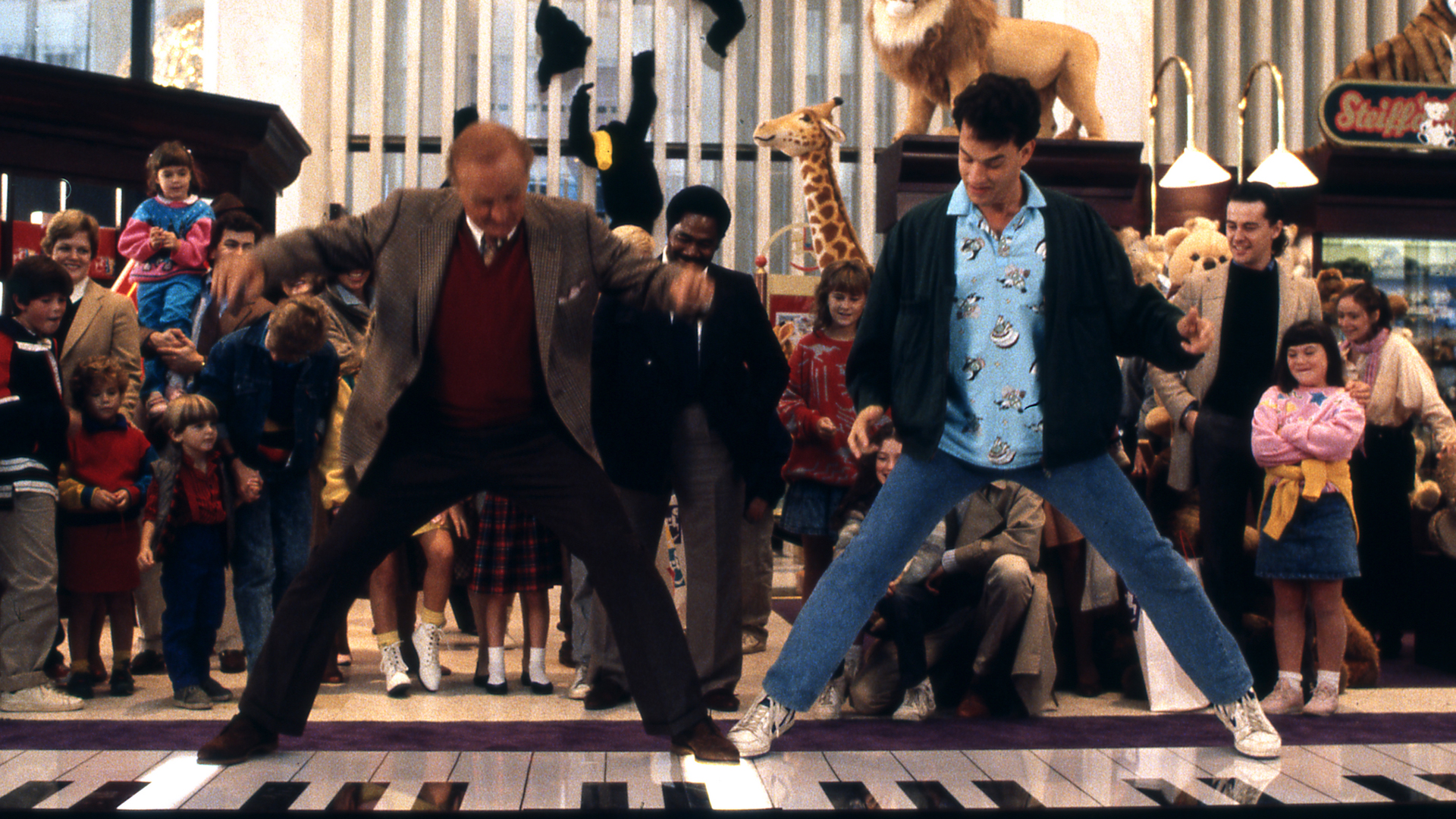 Tom Hanks playing a giant piano in Big.