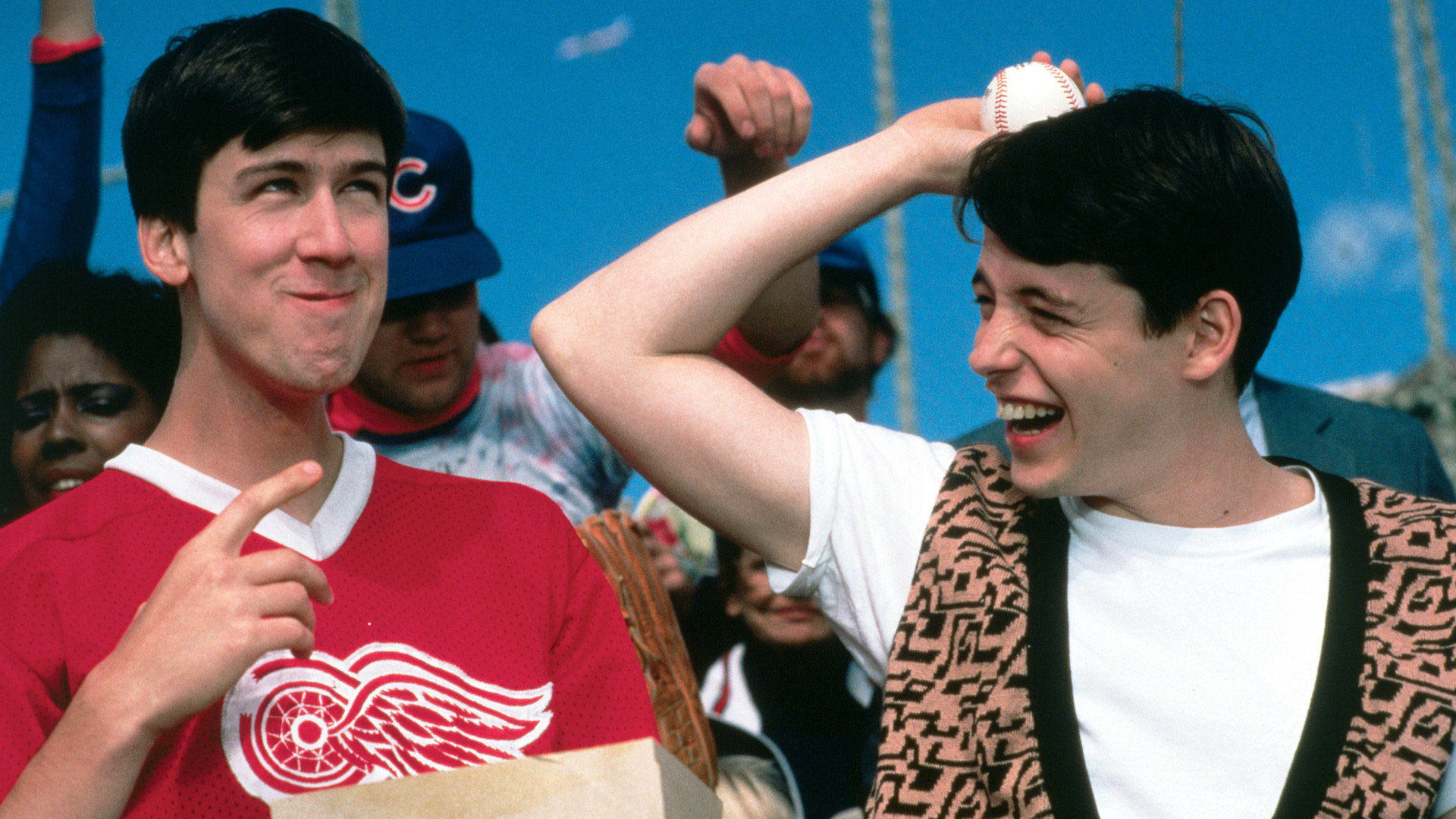 Alan Ruck and Matthew Broderick in Ferris Bueller's Day Off