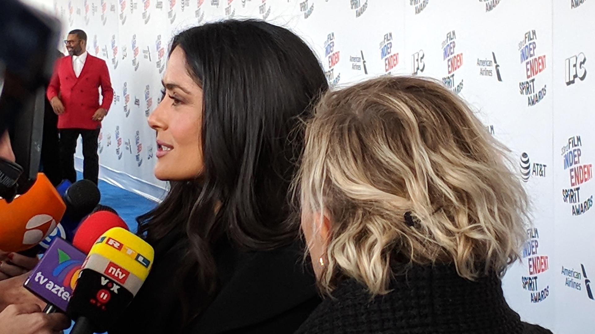 Salma Hayek at the 2018 Film Independent Spirit Awards
