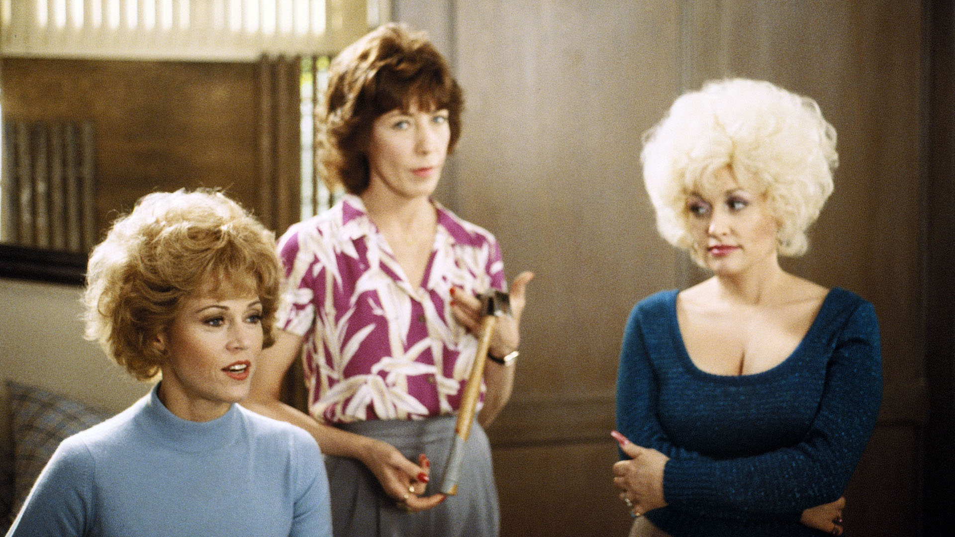 Jane Fonda, Lily Tomlin and Dolly Parton in 9 to 5