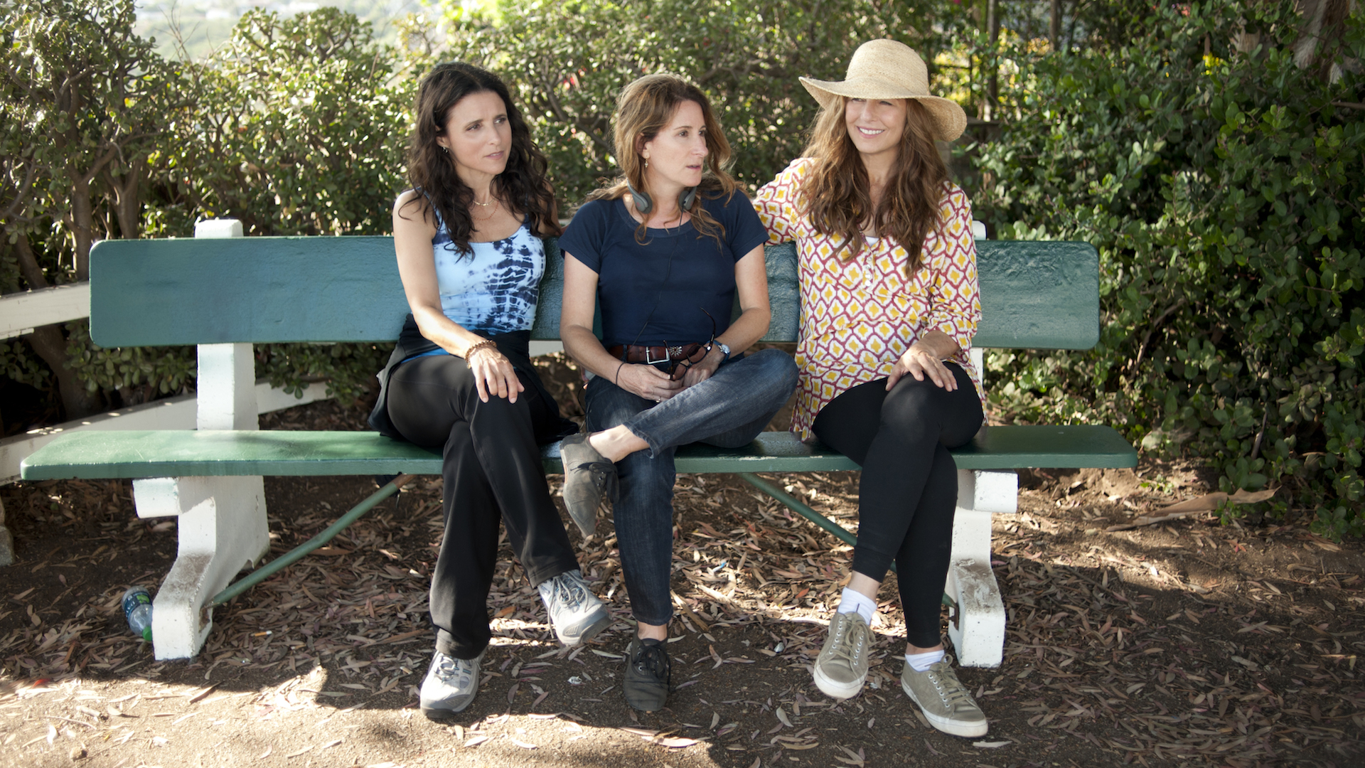 Julia Louis-Dreyfus, Nicole Holofcener and Catherine Keener on the set of Enough Said