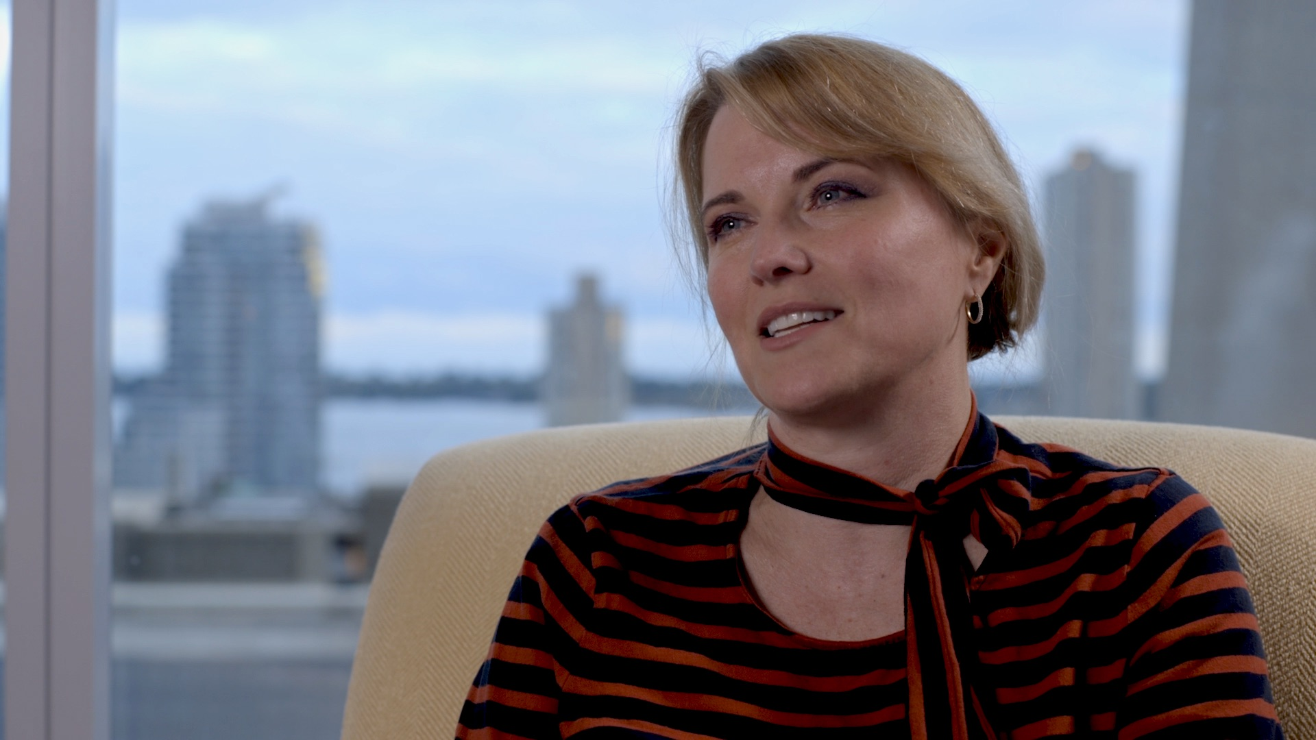 Actor Lucy Lawless gives an interview in Queering the Script