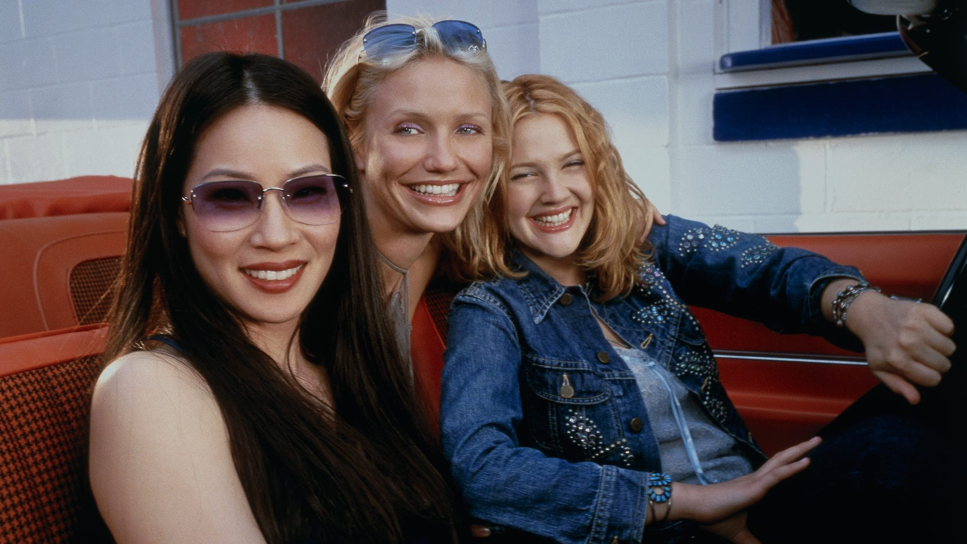 Lucy Liu, Cameron Diaz and Drew Barrymore in Charlie's Angels