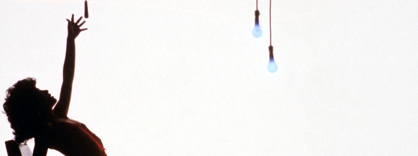 Jennifer Beals dances in silhouette in Flashdance