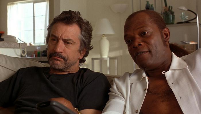 Robert De Niro and Samuel L Jackson in Jackie Brown