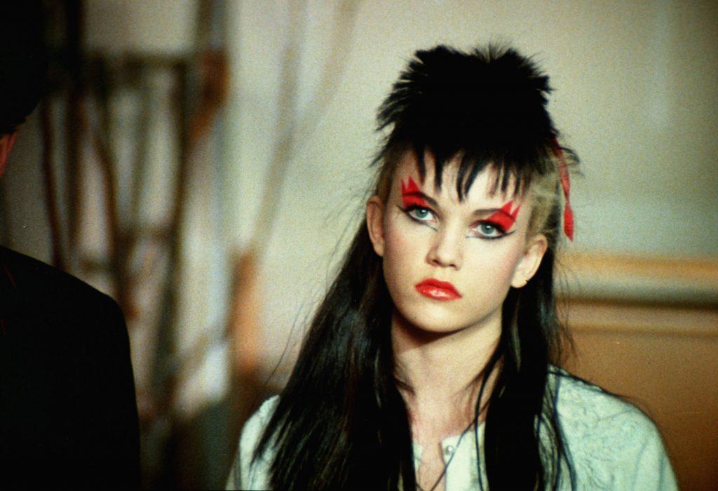 Laura Dern in punk make up