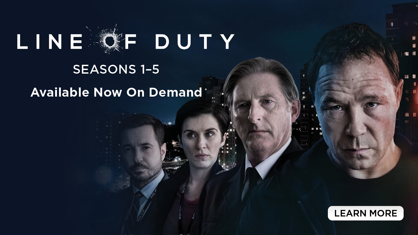 Line of Duty – Seasons 1-5 Available Now on Demand