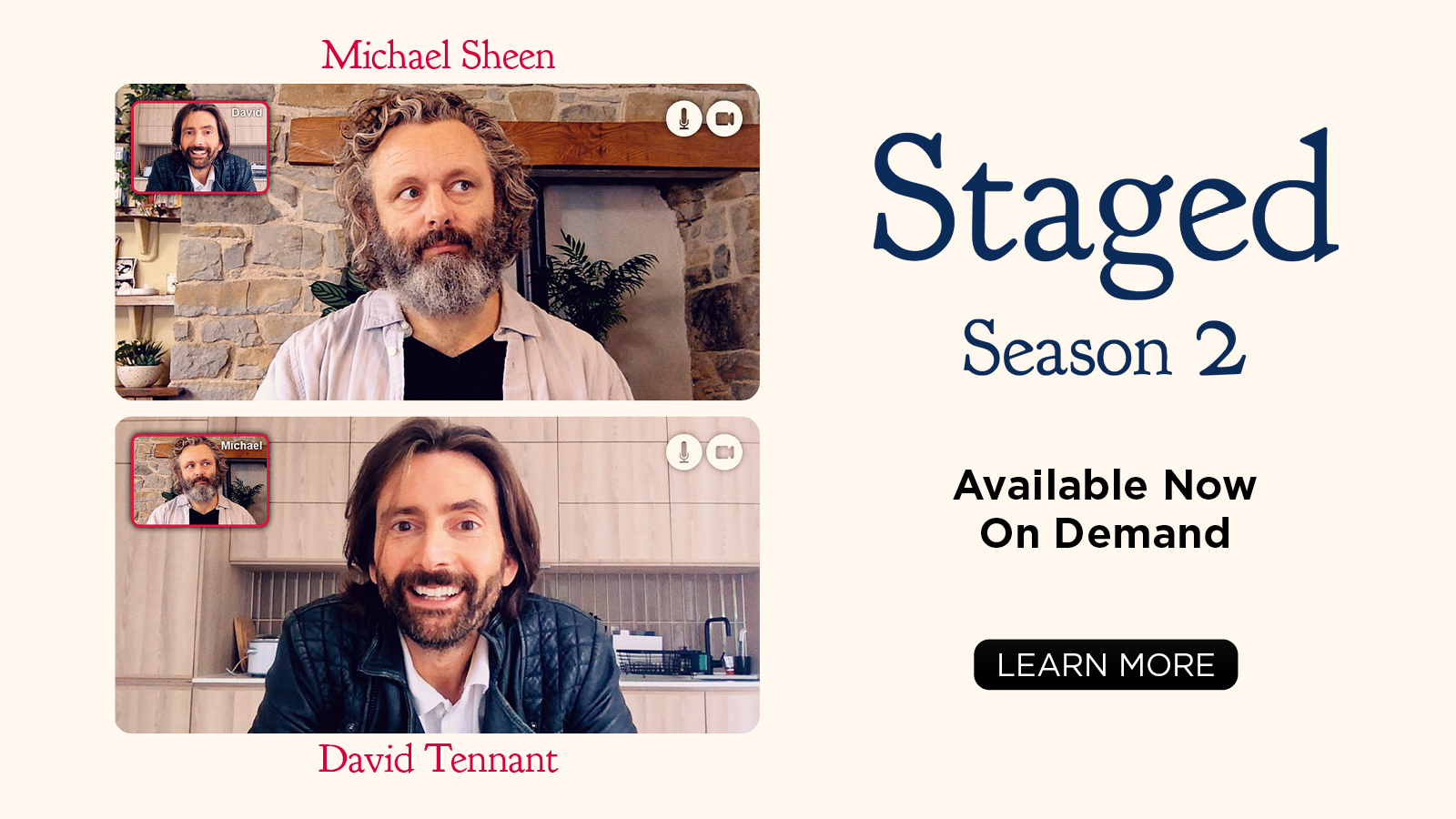 Staged Season 2 Available Now On Demand  [Learn more]