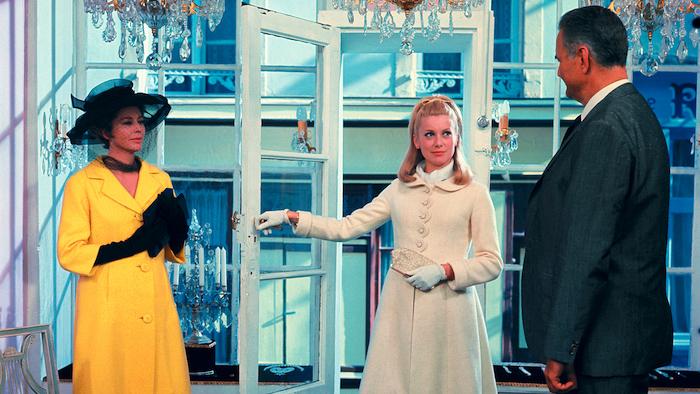 Catherine DENEUVE and Anne VERNON in The Umbrellas of CHERBOURG