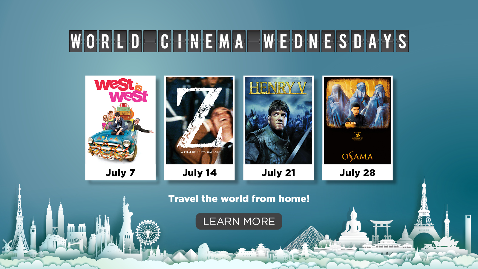 World Cinema Wednesdays – Travel the World from Home – LEARN MORE