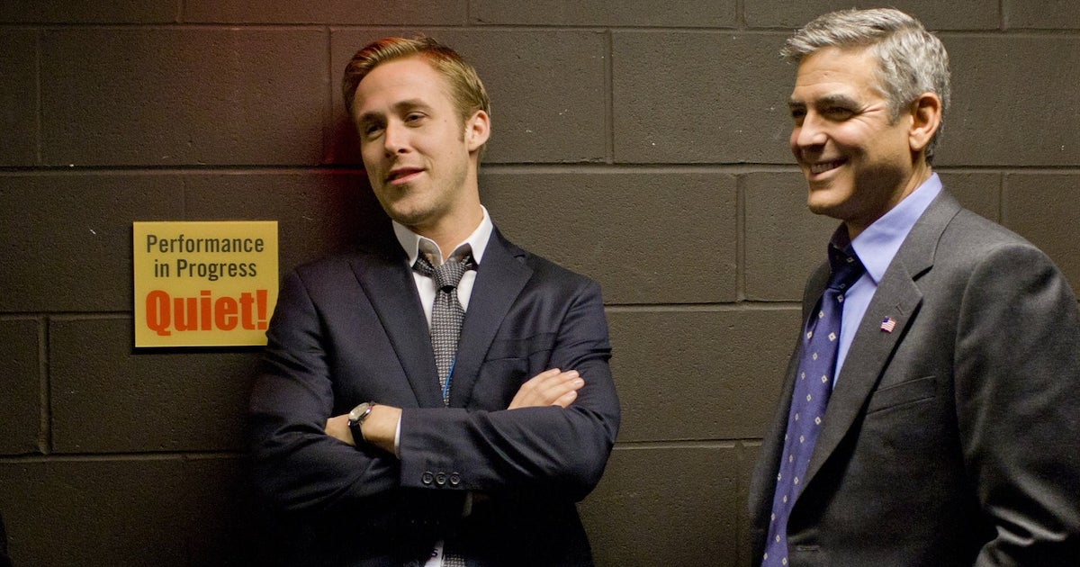 Ryan Gosling and George Clooney in The Ides of March
