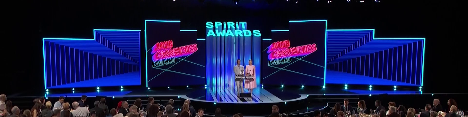 the stage at the film independent spirit awards