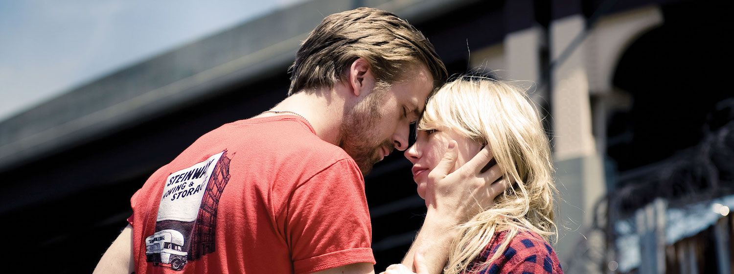 Michelle Williams and Ryan Gosling embrace in Blue Valentine