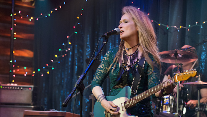 Meryl Streep as Ricki performs on stage in Ricki and the Flash